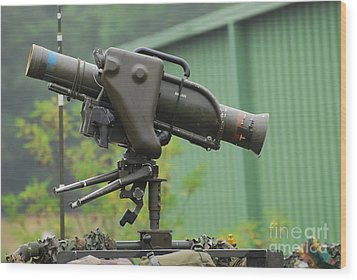 The Milan, Guided Anti-tank Missile Wood Print by Luc De Jaeger
