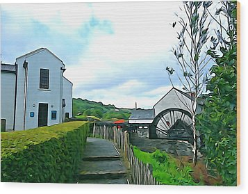 Wood Print featuring the photograph The Mill by Charlie and Norma Brock