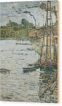The Mill Pond Wood Print by Childe Hassam