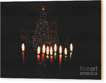 Wood Print featuring the photograph The Miracle Of Christmas by Linda Mesibov