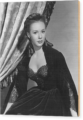 The Mississippi Gambler, Piper Laurie Wood Print by Everett