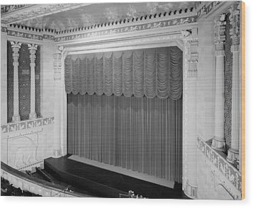 The Missouri Theater Building, View Wood Print by Everett
