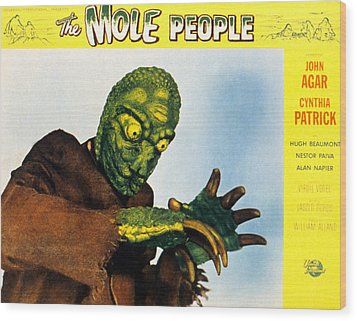 The Mole People, 1956 Wood Print by Everett