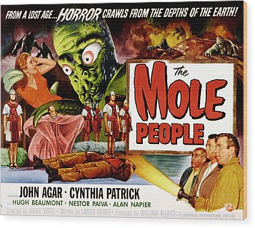 The Mole People, Girl On Upper Left Wood Print by Everett
