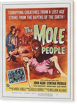 The Mole People, Upper Left Wood Print by Everett