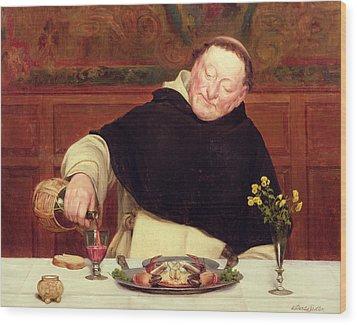 The Monk's Repast Wood Print by Walter Dendy Sadler