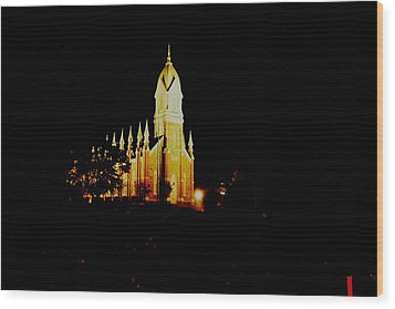 The Morman Temple In Brigham City Wood Print by Jeff Swan