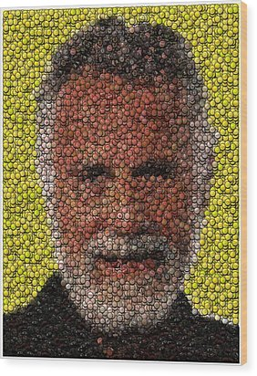 The Most Interesting Mosaic In The World Wood Print by Paul Van Scott