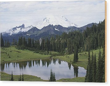 Wood Print featuring the photograph The Mountain by Jerry Cahill