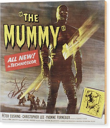The Mummy, Christopher Lee, 1959 Wood Print by Everett