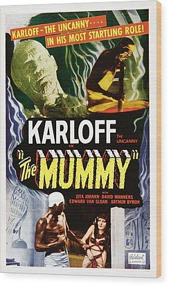 The Mummy, Top Left Boris Karloff Top Wood Print by Everett