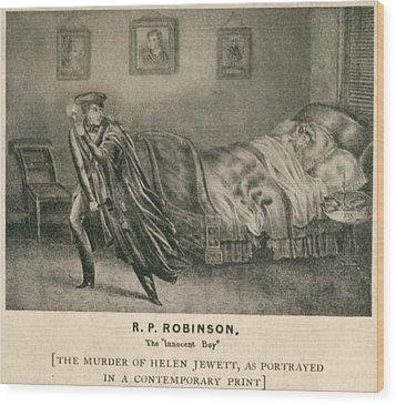 The Murder Of Helen Jewett In 1836 Wood Print by Everett