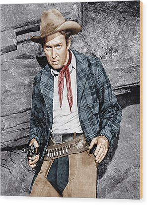 The Naked Spur, James Stewart, 1953 Wood Print by Everett