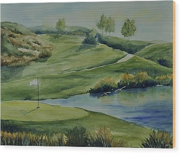 The Nature Of Golf At Tpc Wood Print by Sandy Fisher