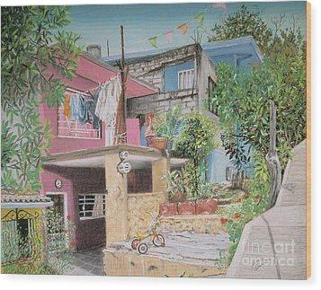 The Neighborhood Wood Print by Jim Barber Hove