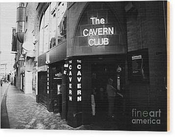 The New Cavern Club In Mathew Street In Liverpool City Centre Birthplace Of The Beatles Merseyside Wood Print by Joe Fox