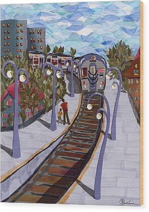 The Next Stop Is... Wood Print by Marina Gershman