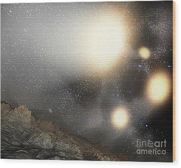 The Night Sky As Seen Wood Print by Stocktrek Images
