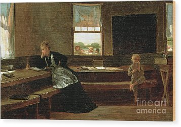 The Noon Recess Wood Print by Winslow Homer