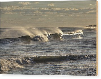 The Ocean Winds Wood Print by Steve Gravano