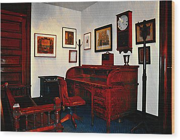 The Office Wood Print by Bill Cannon