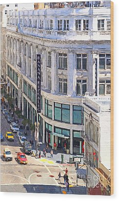 The Old Alfred Hitchcock Vertigo White House Department Store Now Banana Republic Department Store Wood Print by Wingsdomain Art and Photography