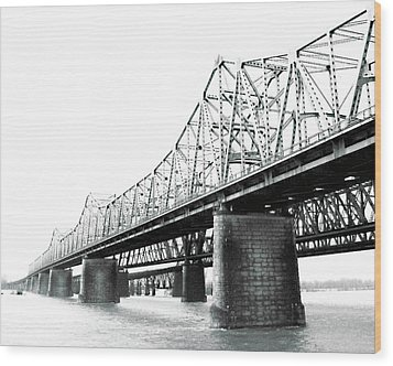 Wood Print featuring the photograph The Old Bridges At Memphis by Lizi Beard-Ward