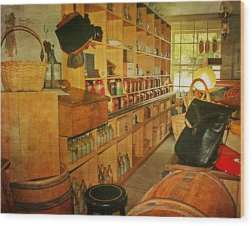 The Old Country Store Wood Print by Kim Hojnacki