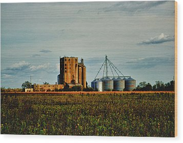 The Old Grain Mill Wood Print by Kelly Reber