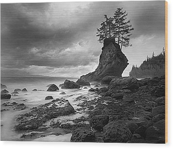 The Old Man Of The Sea - Strait Of Juan De Fuca Wood Print by Nathan Mccreery