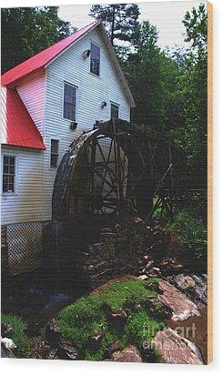 The Old Mill 1886 In Cherokee North Carolina - II  Wood Print by Susanne Van Hulst