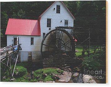 The Old Mill 1886 In Cherokee North Carolina Wood Print by Susanne Van Hulst