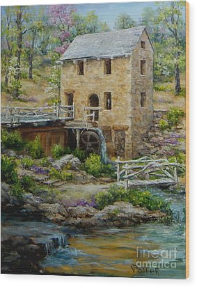 The Old Mill In Spring Wood Print