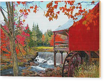 The Old Mill In Weston Vermont Wood Print by Earl Jackson