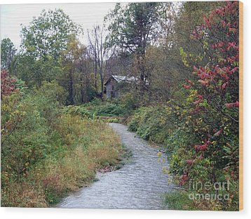 The Old Mill Stream Wood Print