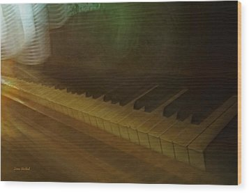 The Old Piano Wood Print by Donna Blackhall