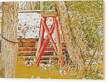 The Old Ranch Tower Wood Print by Lenore Senior and Dawn Senior-Trask