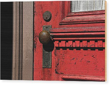 The Old Red Door Wood Print by David Lee Thompson