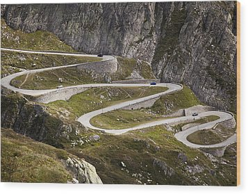 The Old Road To Gotthard Pass Wood Print by Buena Vista Images