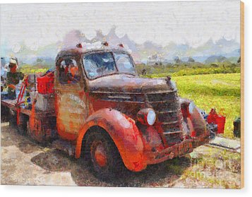 The Old Rusty Jalopy . 7d15500 Wood Print by Wingsdomain Art and Photography