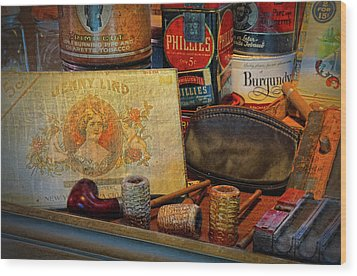 The Old Smoke Shop Wood Print by Dave Mills