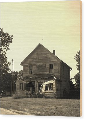 The Old Store Wood Print