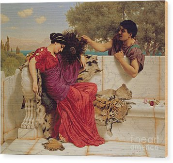 The Old Story Wood Print by John William Godward