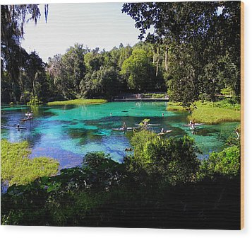 The Old Swimming Hole Wood Print by Judy Wanamaker