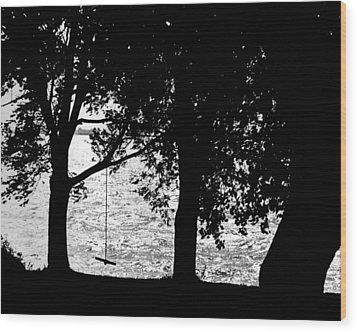 Wood Print featuring the photograph The Old Swing by Mike Flynn