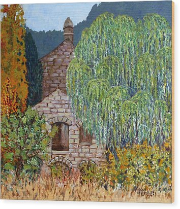 The Old Willow Tree Wood Print by Caroline Street