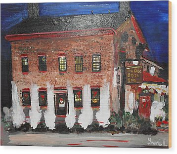 Wood Print featuring the painting The Olde Bryan Inn by Laurie L