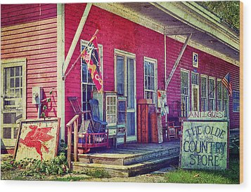 The Olde Country Store Wood Print by Kathy Jennings