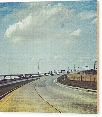 The Open Road #notraffic #random #hdr Wood Print by Kel Hill