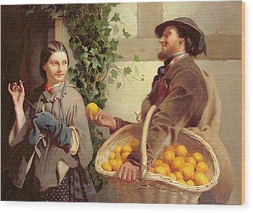 The Orange Seller  Wood Print by William Edward Millner